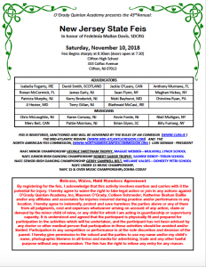 2018 New Jersey State Feis Syllabus